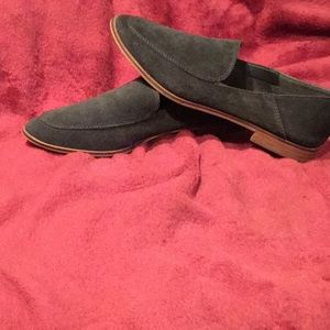 Suede slip on shoe